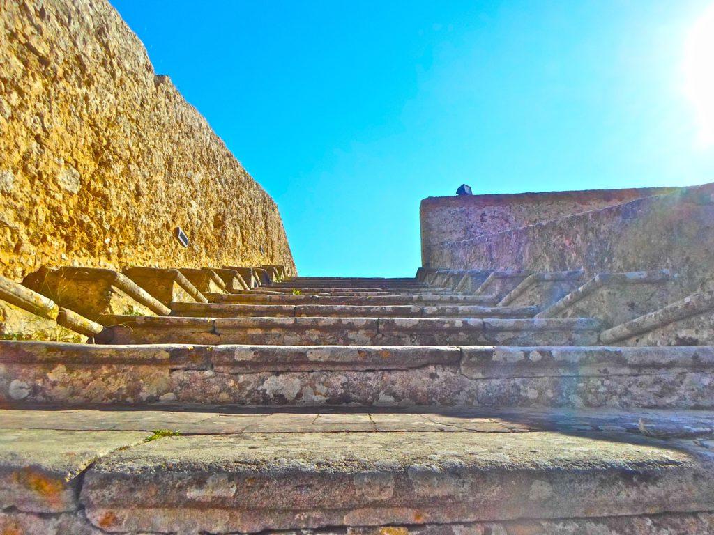 Scalinata del bastione del Belvedere